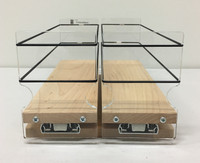 Spice Rack 33x1x11, Maple Front View