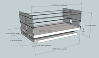 33x1x11 Spice Rack Drawer - Maple