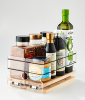 33x1x11 Spice Rack Maple - Organize and Easily Access Large Containers