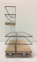 23x2x11 Spice Rack Combo Drawers, Maple - Front View