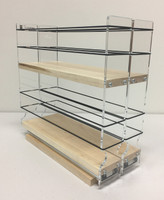 "22x2x11 Spice Rack, Maple Unit: 4.6"" wide x 10.75"" tall x 10.6"" depth Drawers: (2) 2.1"" wide x 10.05"" long"