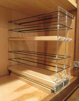 22x2x11 Spice Rack, Maple - In Cabinet