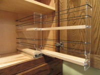 22x2x11 Spice Rack, Maple - Empty Drawer Out