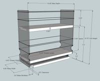 4x2x11 Spice Rack - Dimensioned