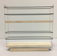 2x2x11 Spice Rack, Maple - Side View