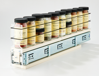 2x1x22 Spice Rack Drawer Cream - 10 Spice Containers in a Compact Space