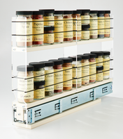 2x2x22 Spice Rack Drawer Cream - Spice Storage Never Looked and Performed So Good