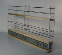 """2x2x22 Spice Rack Drawer - Maple Unit: 2.3"""" wide x 13.0"""" tall x 22"""" depth Drawers: (1) 2 sections each 2.1"""" wide x 10.7"""" long"""
