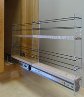2x2x22 Spice Rack Drawer - Maple, Extended, Empty