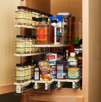 Utilize and Organize your Deep Cabinets With Multiple Vertical Spice Organization Drawerts