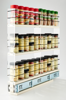 2x3x22 Spice Rack Drawer Cream - Organize 30+ Spices in a Compact Space