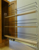2x3x22 Spice Rack Drawer - Maple, Extended, Empty