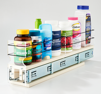 3x1x22 Spice Rack Drawer Cream - Versatile Full Depth Storage