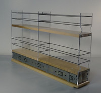 "3x2x22 Spice Rack Drawer - Maple Unit: 3.45"" wide x 13.0"" tall x 22"" depth Drawers: (1) 2 sections each 3.25"" wide x 10.7"" long"