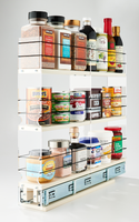 3x3x22 Spice Rack Drawer Cream - Organize the Full Depth of Your Cabinet