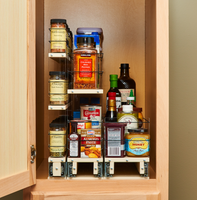 x22 Depth Vertical Spice Drawers - Bring the Cabinet Depth Out to You