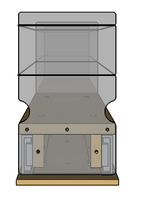 Spice Rack 4x1x22, Maple - Front
