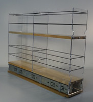 "4x2x22 Storage Solution Drawer - Maple Unit: 4.6"" wide x 16.52"" tall x 22"" depth Drawers: (1) 2 sections each 4.4"" wide x 10.7"" long"
