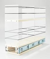 5x2x22 Storage Solution Drawer Cream
