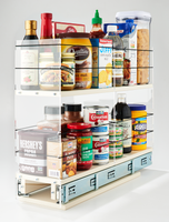 5x2x22 Storage Solution Drawer Cream - Bring Your Containers Out From the Full Cabinet Depth