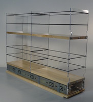 """5x2x22 Storage Solution Drawer - Maple Unit: 5.75"""" wide x 16.52"""" tall x 22.1"""" depth Drawers: (1) 2 sections each 5.55"""" wide x 10.7"""" long"""