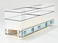 Storage Solution Drawer 5x1x22 Cream