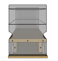 Spice Rack 5x1x22, Maple - Front View