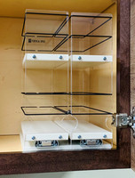 Spice Rack 33x2x11, Cream, In Cabinet