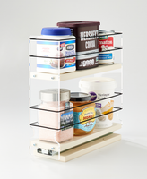 3x2x11 Spice Rack Cream - Organize a Wide Range of Containers