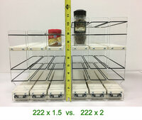 Height Comaprison - 222x1.5 vs 222x2