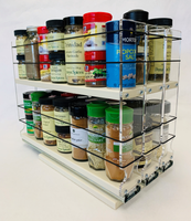"""222x2x14 Spice Rack Cream - by Vertical Spice Unit: 6.9"""" wide x 10.75"""" tall x 13.8"""" depth Drawers: (3) 2.1"""" wide x 13.25"""" long"""