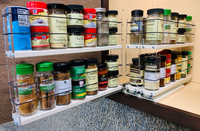 222x2x14 DC Spice Rack  In Cabinet Drawer Full Depth Access