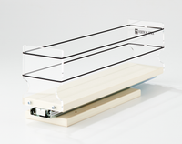 33x1x14 Spice Rack Drawer Cream -