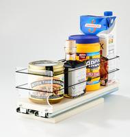 4x1x14 Storage Solution Drawer Cream - Full Depth Cabinet Storage Access