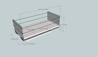 6x1x14 Storage Solution Drawer - Dimensioned