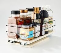 33x1x14 Spice Rack Drawer Cream - Organize and Find all Your Large Containers