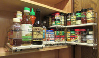 Organized cabinet with a Starter Bundle by Vertical Spice