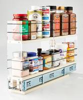 3x2x22 Spice Rack Drawer Cream - Organize and Access Your Cabinet