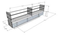 3x1x22 Spice Rack Drawer -  Dimensioned