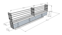 2x1x22 Spice Rack Drawer - Dimensioned
