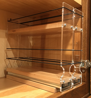 Spice Rack 22 x 1.5 x 11, Maple - Mounted in cabinet