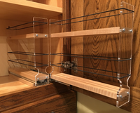 Spice Rack 22 x 1.5 x 11, Maple - Drawer out, ready for loading