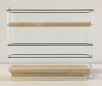 Spice Rack 2x1.5x11, Maple - Side View