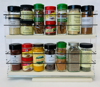 """2x2x14 Spice Rack Drawer - Cream - Narrow Space Unit: 2.3"""" wide x 10.75"""" tall x 13.8"""" depth Drawer: 2.1"""" wide x 13.25"""" long Fits IKEA 15"""" Depth cabinets"""
