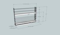 2x2x14 Spice Rack Dimensioned