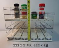 222x2x11 Spice Rack Cream x2 vs. x1.5 Comparison