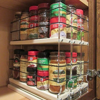 222x2x11 Spice Rack Cream Compact cabinet storage