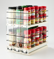222x2x11 Spice Rack Cream - Organize and Complete Access