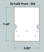 5x1x22 Replacement Front - OLD Base Design