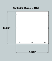 5x1x22 Replacement Back - OLD Base Design